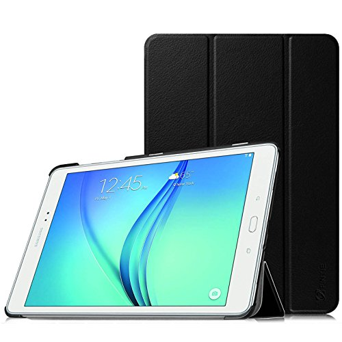 Fintie Samsung Galaxy Tab A 9.7 Hülle Case - Ultra Schlank Superleicht Ständer Smart Shell Cover Schutzhülle Etui Tasche mit Auto Schlaf / Wach Funktion für Samsung Galaxy Tab A 9.7 T550N / T555N 24,6 cm (9,7 Zoll) Tablet-PC, Schwarz
