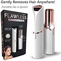 MAXELNOVA Women's Flawless Hair Remover Touch Epilator/Razor Wax Electric Hair Removal Painless Lipstick Shaving Tool (Battery included)