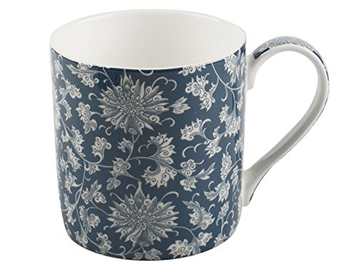 (Victoria & Albert V&A Owen Jones - Lotus Teal Scroll Mug, 230ml (8 fl oz))