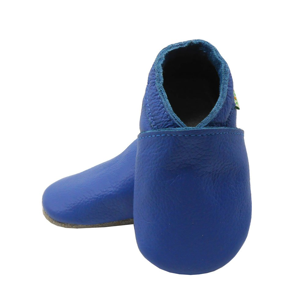 SAYOYO Soft Sole Baby Shoes Baby Leather Infant Toddler Prewalkers Blue