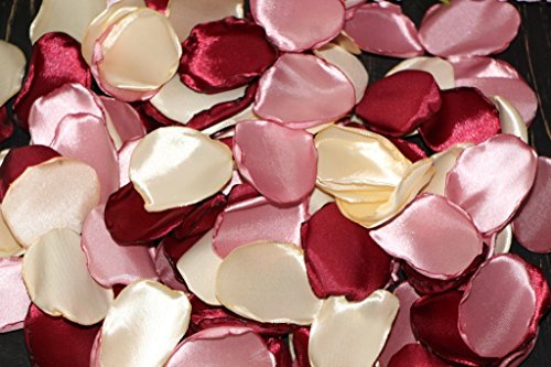 Marsala rose petals, Set of 100, Champagne Rose, Flower Girl Petals, Dusty rose petals, Bridal Shower Decor, Romantic Wedding, Baby Girl Shower, Blush Petals -