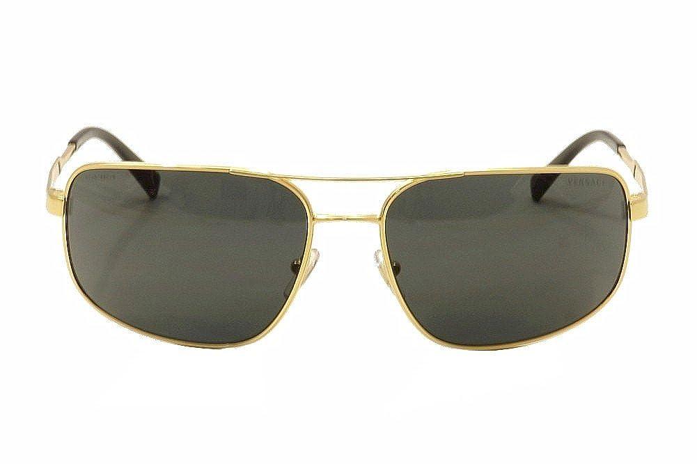 Amazon.com: Versace 2158 100287 Oro 2158 cuadrados Aviador ...