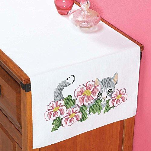 Herrschners® Peek-a-Boo Dresser Scarf Stamped Cross-Stitch