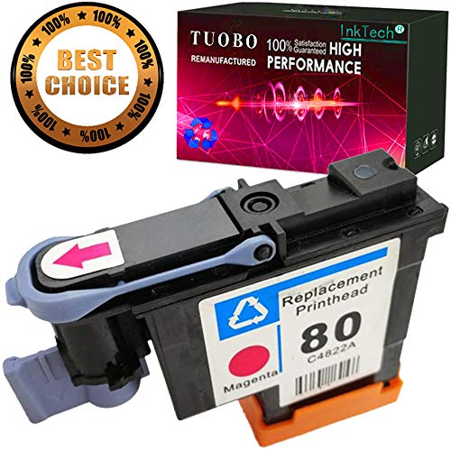 Tuobo HP80 Printhead C4822A with Magenta Color Compatible with New Updated Chips fit for HP DesignJet 1050c 1050c Plus 1055C 1055cm 1055cm Plus (1M)-US