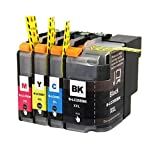 PERSEUS LC20EXXL Replacement fit Brother LC20E Super High Yield XXL Ink Cartridge (4-Pack,Black/Cyan/Magenta/Yellow) Compatible with Brother MFC-J985DW MFC-J5920DW Printer