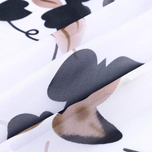 Floreale Homebaby® Tunica Elegante Verde Spiaggia Cardigan Copricostume Donna Estate Mare Sexy Chiffon Estivo Boho Abito Lungo Etnica Kimono Bianco Scialle Vintage Vestito da rrpCqIw
