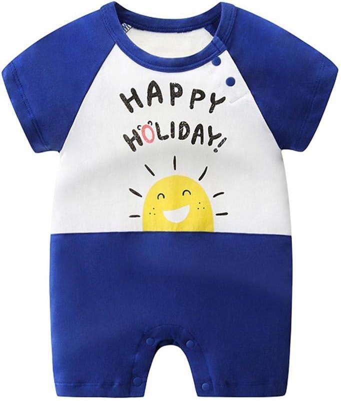 Baby Romper Onesie Newborn Short Sleeve Cotton Overalls Jumpsuit Summer Blue Sun 0-3 Months//59