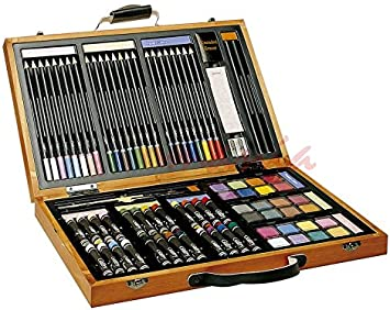 Estuche de Dibujo Gallery 700 de Madera 79 Componentes Medidas: 38 x 22 x 5 cm: Amazon.es: Electrónica