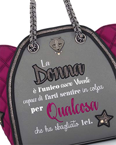 Qualcosa Le Dkgrey Donna 2225 Grigio 07 Classic Pandorine Borse Mod qT8wtT