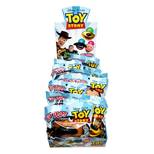 Disney Pixar Toy Story 4 Assorted Character Lip Pops Lollipops Stocking Stuffers, Pack of 12