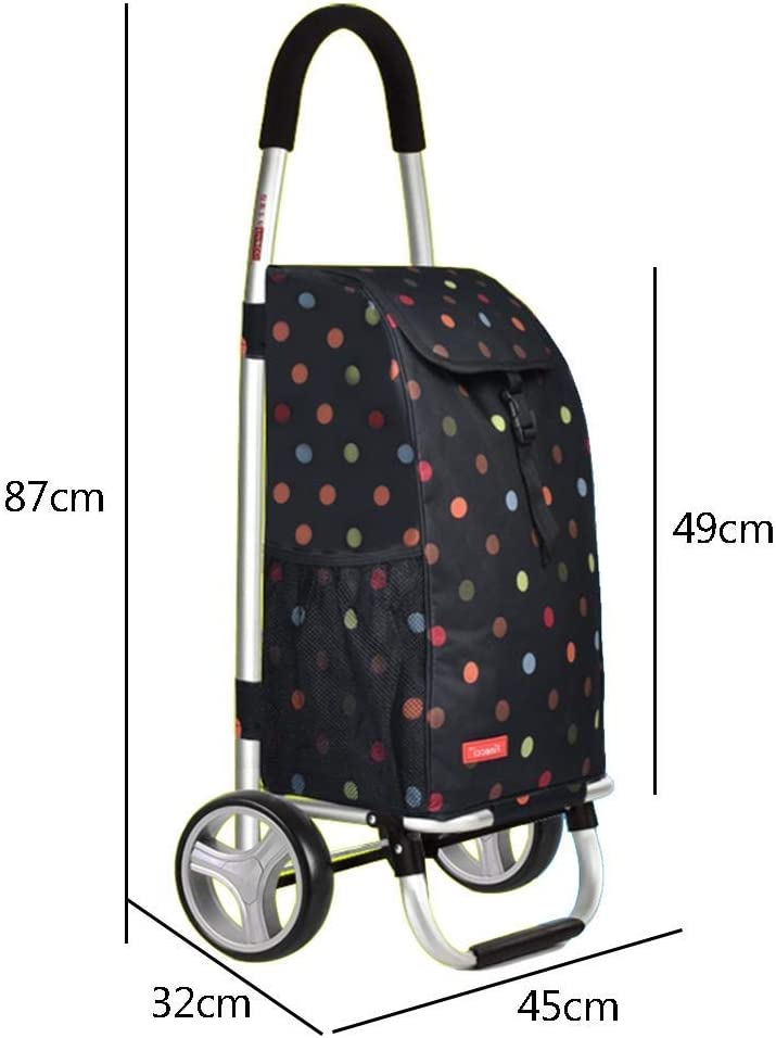 RFJJAL Shopping Cart Trolley Portable Shopping Hand Trolley Sack Truck Cart Folding Heavy Duty Luggage Aluminum Alloy Household Supermarket Cart Color : A