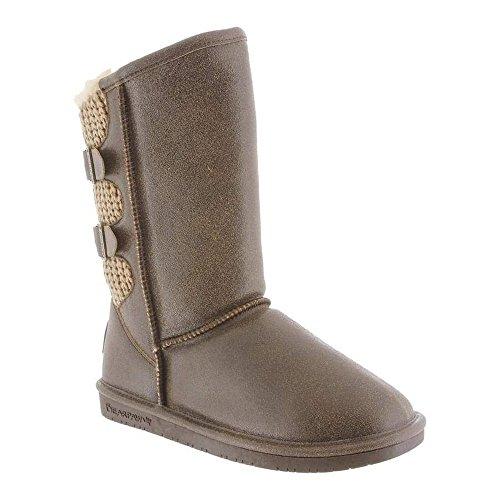 BEARPAW Women's/Girls' Boshie Winter Boot (7, Distressed Chestnut)