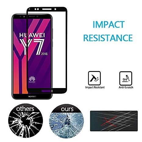 GoodcAcy[2-Pack Protector Pantalla Huawei Y7 2018, Cristal Templado,Vidrio Templado con[9H Dureza][Alta Definicion][Garantía de por Vida] para Huawei ...