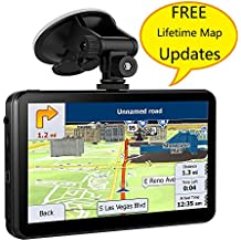 [Patrocinado] GPS Navigation for Car, 7 Inches 8GB Vehicle GPS with Capacitive Touchscreen, Spoken Turn- to -Turn Directions Navigation Include Overall America Maps with Lifetime Free Updates and Two Car Charger