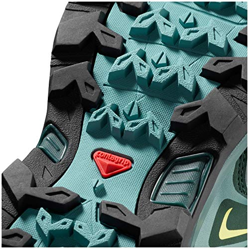 Salomon Women's X Ultra 3 Wide GTX Hiking Shoes, Artic/Darkest Spruce/Sunny Lime, 5.5 D(M) US by Salomon (Image #4)