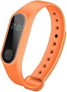 LYL YL Messaggio di Monitoraggio della Frequenza Cardiaca per Ricordare Il Movimento Bluetooth Pedometro Impermeabile Bracciale Astuto Impermeabile, Black,Black