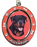 E&S Pets Rottweiler Double Sided Spinning Key Chain - KC-33