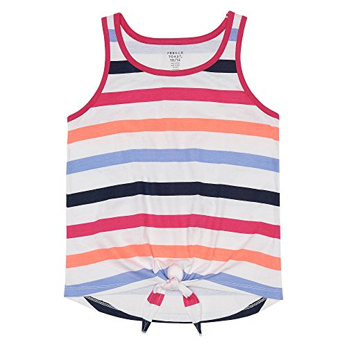 French Toast Girls' Big Tank Top, Fuchsia Burst, L (10/12) ()