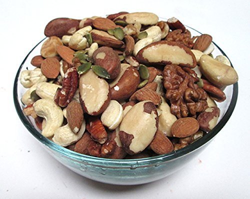 Organic Raw Nut Mixes, 16 oz bag (Organic Raw Pecan, Walnut, Almond, Brazil Nut, Cashew, Pepitas) (Walnut Cashew)