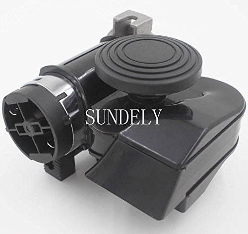 SUNDELY/® 12V Nautilus Style Air Horn 139Db Compact Black for Motorcycle Car