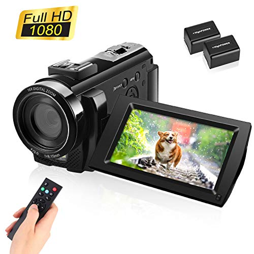 Video Camera Camcorder with Full HD 1080P 30FPS 16X Digital Zoom Digital Camera Vlogging Camera for YouTube 3.0 Inch LCD…