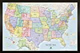 Homemagnetics 33 x 22'' Blue USA Magnetic Map