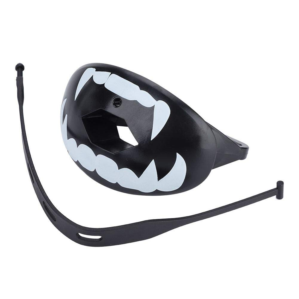 Antilog Mouthguard Teeth, 4colors Food-Grade TPR Mouthguard Teeth Protector for Boxing Football Sports (White Teeth on Black) by Antilog