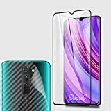 ShopeeQ 9H Hardness Edge to Edge Screen Guard Protector for Xiaomi Redmi Note 8 Pro Tempered Glass Extra with Full Glue Glass Free Back Sticker