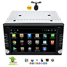 Eincar Android 7.1 Car Radio 6.2 Inch Octa-core 2GB+32GB Double Din Car Stereo in Dash Car DVD Player GPS Nav Support BT/3G/4G WIFI/RDS Radio/OBD2/DAB+/SWC/Phone Link/USB SD/Cam-In+Free Rear Cam