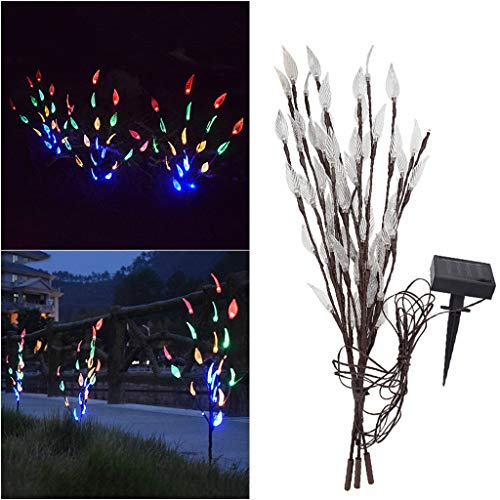 - Iusun Garden Solar Tree Lights Pine Cone 60LED Outdoor Waterproof Fairy String Landscape Lawn Light Fence Lamp Pathways Yard Patio Decorations Christmas Wedding Party Holiday New Year Ornament (A)