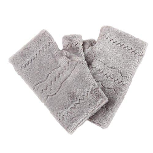 Winter Autumn Thick Warm Gloves Keyboard Leak Finger Gloves Gray - 6