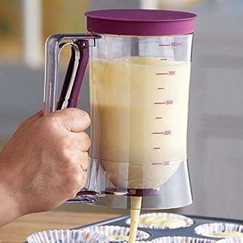Cupcakes crepes galleta gofres para tarta magdalenas para hornear masa dispensador de crema taza de medir: Amazon.es: Hogar