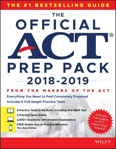 Math 2 Test Pack - The Official ACT Prep Pack with 6 Full Practice Tests (4 in Official ACT Prep Guide + 2 Online)