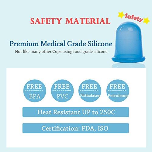 Elmatory Upgraded Medical grade silicone Anti Cellulite Vacuum Cup ...