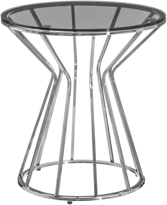 Mesa color plata geométrica
