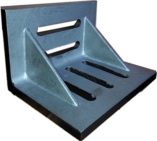 "HHIP 3402-0302 4-1/2"" x 3-1/2"" x 3"" Slotted Angle Plate, Webbed"