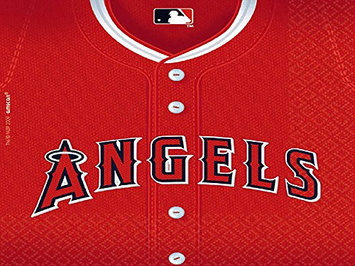 Amscan MLB Los Angels Sport Luncheon Paper Napkins Tableware Party Supplies , Red, 432 ()