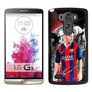 Unique And Popular LG G3 Case ,Soccer Player Lionel Messi 39 Black LG G3 Screen Cover Beautiful Designed