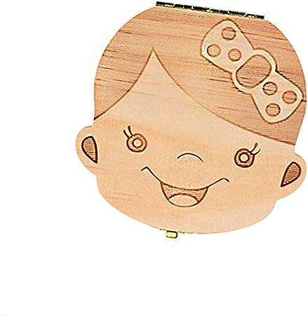 2 unidades de almacenamiento para beb/és caja de almacenamiento personalizada de madera Decidos BETOY Caja de dientes para ni/ños