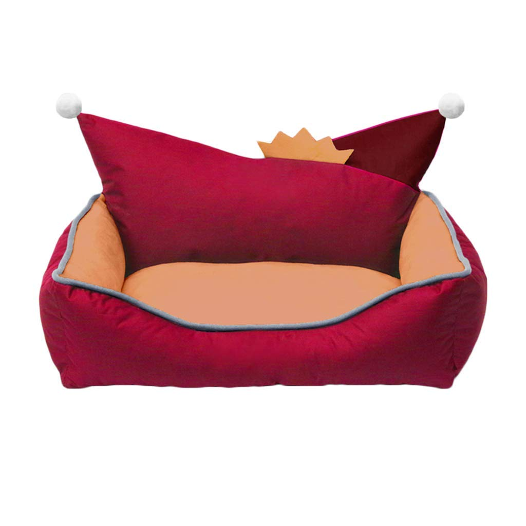 60x50x21cm KYCD Dog Nest, Pet Sofa, smontabile Wasable, Four Seasons Usable, Comfortable and Breathable Suede _;Non -Oxford slip Cloth, Nest _forSmall Medium Dogs 65533533533533; Red (Dimensione: 60x50x21cm)