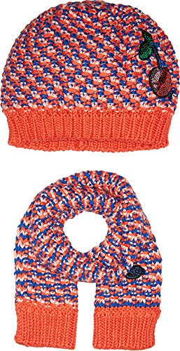 Price comparison product image Little Marc Jacobs Baby Girls Fancy Sequined Cherry Scarf and Hat Set,  Red / Blue,  46