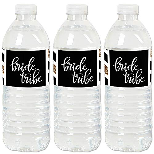 Bride Tribe - Bridal Shower or Bachelorette Party Water Bottle Sticker Labels - Set of ()