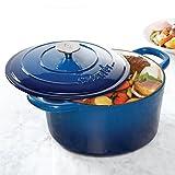 Crock Pot Artisan 7QT Round Dutch Oven, Blue