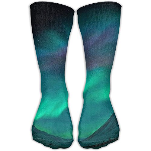 Funny Comfortable Aurora Polaris Light Crew Socks Athletic Christmas Socks For - Polaris Fashion Place