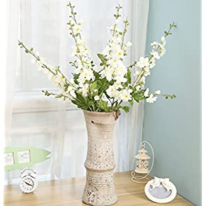 Skyseen 3PCS Artificial Delphinium Fake Consolida ajacis Larkspur for Home Decoration 62