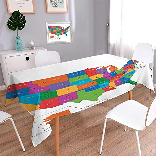 Jiahonghome Oblonge Table Cloth for Kitchen Tables Colorful
