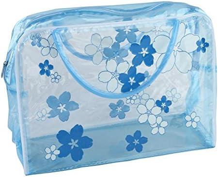 Azul Bolsa de Cosm/ético Bolsa de Mano Organizador de Viaje Port/átil STRIR Bolsa Impermeable de PVC Neceser Transparente