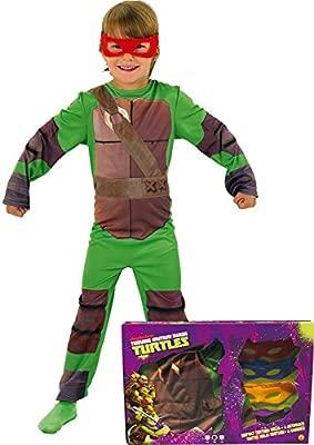 Disfraz de Tortuga Ninja en caja para niño, infantil 3-4 años (Rubies 888261-S)