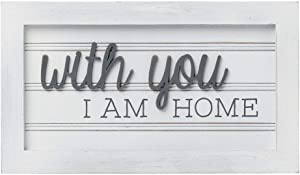 Collins 'with You I Am Home' Wood-Framed Wall Art