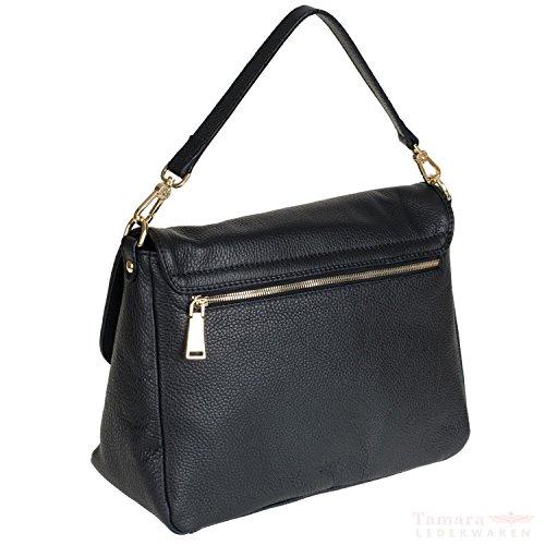 Calf abro adria 026535-37 sac à bandoulière en cuir pour femme 32 x 23,5 x 12 cm (noir)